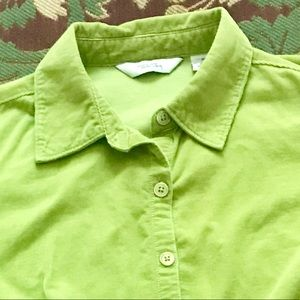 Tops - Green Corduroy Shirt size M